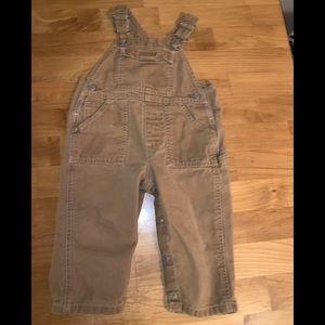 Baby Gap bib baby overalls brown 18-24m